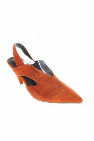 Γυναικεία παπούτσια Reserved, Μέγεθος 36, Χρώμα Πορτοκαλί, Φυσικό σουέτ, Τιμή 16,84€