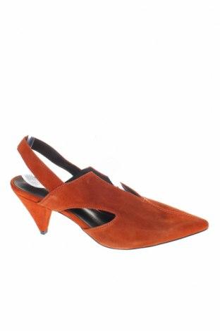 Γυναικεία παπούτσια Reserved, Μέγεθος 37, Χρώμα Πορτοκαλί, Φυσικό σουέτ, Τιμή 16,84€