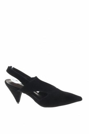 Дамски обувки Reserved, Размер 36, Цвят Черен, Естествен велур, Цена 19,80лв.