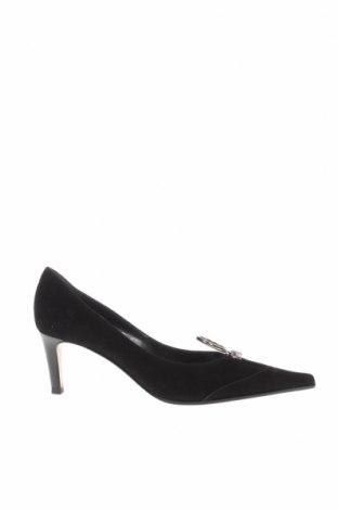 Дамски обувки Sergio Rossi, Размер 36, Цвят Черен, Естествен велур, Цена 92,82лв.