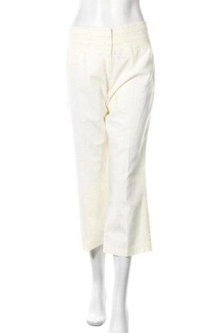 Дамски панталон 3 Suisses Collection, Размер M, Цвят Екрю, 55% лен, 45% памук, Цена 12,03лв.