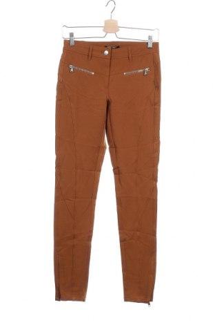 Дамски панталон Apriori, Размер XS, Цвят Кафяв, 95% полиестер, 5% еластан, Цена 9,01лв.
