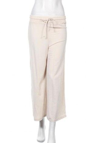 Дамски панталон Bershka, Размер S, Цвят Бежов, 51% модал, 49% полиамид, Цена 14,88лв.