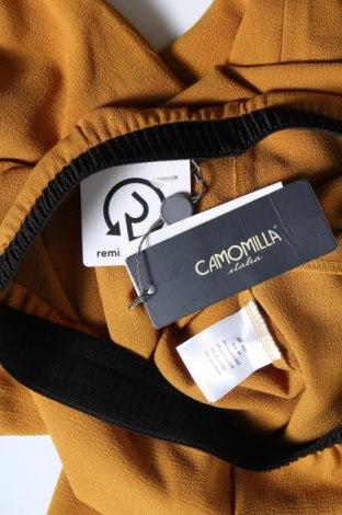 Дамски панталон Camomilla, Размер M, Цвят Жълт, 97% полиестер, 3% еластан, Цена 33,82лв.