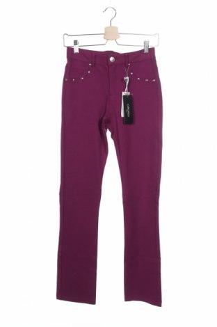 Дамски панталон Camomilla, Размер XS, Цвят Лилав, 66% вискоза, 27% полиамид, 7% еластан, Цена 24,92лв.
