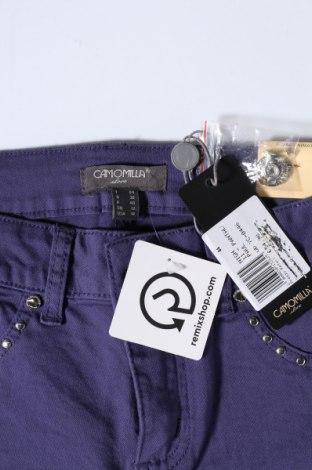 Дамски панталон Camomilla, Размер M, Цвят Лилав, 98% памук, 2% еластан, Цена 20,47лв.