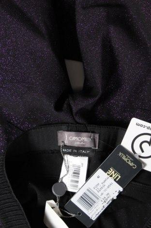 Дамски панталон Camomilla, Размер M, Цвят Черен, 63% полиестер, 23% вискоза, 6% метални нишки, Цена 24,92лв.