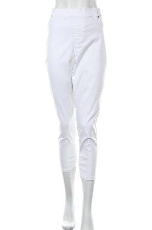 Dámské kalhoty  George, Velikost XL, Barva Bílá, 70% bavlna, 28% polyester, 2% elastan, Cena  373,00Kč