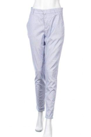 Дамски панталон H&M L.O.G.G., Размер M, Цвят Син, 97% памук, 3% еластан, Цена 21,74лв.