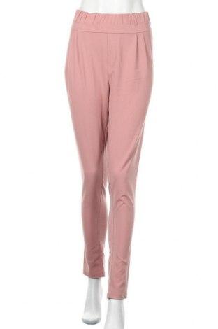 Дамски панталон Kaffe, Размер L, Цвят Розов, 68% полиестер, 28% вискоза, 4% еластан, Цена 19,95лв.