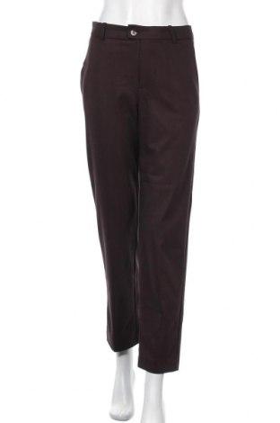 Дамски панталон Mango, Размер S, Цвят Кафяв, 63% полиестер, 32% вискоза, 5% еластан, Цена 20,01лв.
