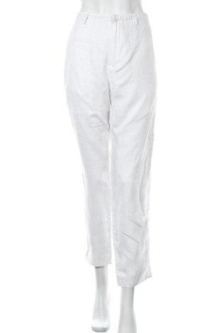Γυναικείο παντελόνι Noa Noa, Μέγεθος L, Χρώμα Λευκό, 100% λινό, Τιμή 18,51€