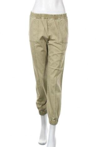 Дамски панталон ONLY, Размер S, Цвят Зелен, 98% памук, 2% еластан, Цена 15,18лв.