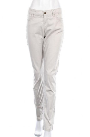 Дамски панталон Oviesse, Размер XL, Цвят Бежов, 98% памук, 2% еластан, Цена 20,21лв.