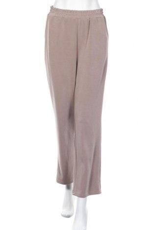 Γυναικείο παντελόνι Pieces, Μέγεθος M, Χρώμα  Μπέζ, 48% πολυεστέρας, 46% μοντάλ, 6% ελαστάνη, Τιμή 15,98€