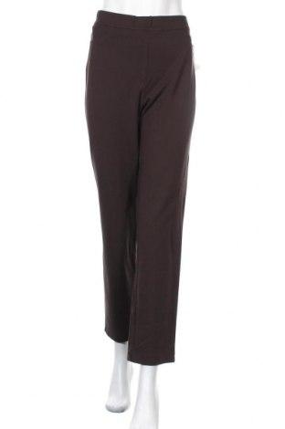 Дамски панталон Toni, Размер XL, Цвят Кафяв, 68% вискоза, 27% полиамид, 5% еластан, Цена 35,91лв.