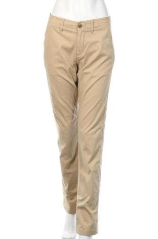 Дамски панталон Uniqlo, Размер L, Цвят Бежов, 97% памук, 3% еластан, Цена 24,94лв.
