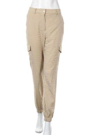 Дамски панталон Vila, Размер M, Цвят Бежов, 54% полиестер, 46% вискоза, Цена 31,05лв.