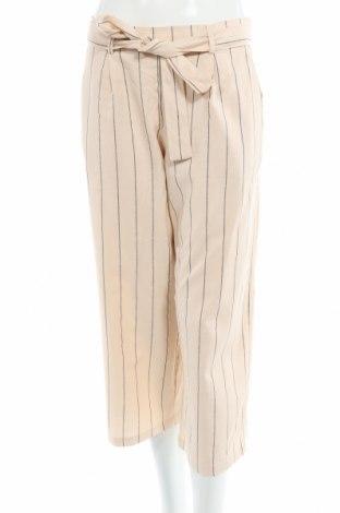 Дамски панталон Vila, Размер M, Цвят Бежов, 55% лен, 45% вискоза, Цена 26,40лв.