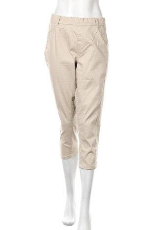 Дамски панталон Xlnt, Размер XL, Цвят Бежов, 76% памук, 22% полиестер, 2% еластан, Цена 24,57лв.