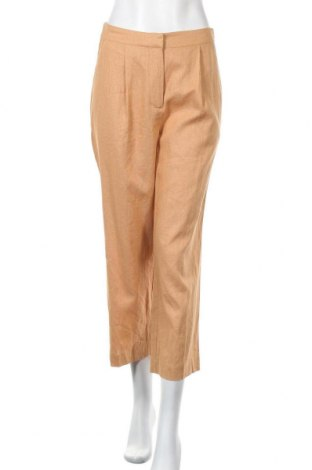 Дамски панталон Y.A.S, Размер M, Цвят Оранжев, 55% лен, 45% вискоза, Цена 38,40лв.