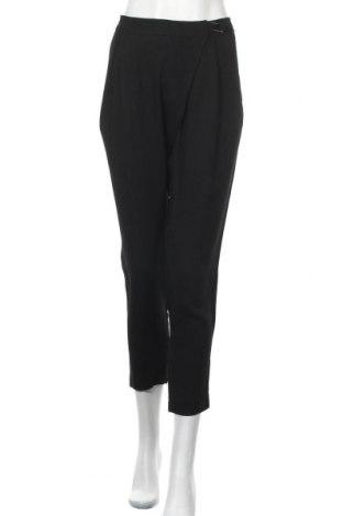 Дамски панталон Zara, Размер XL, Цвят Черен, Вискоза, Цена 28,93лв.