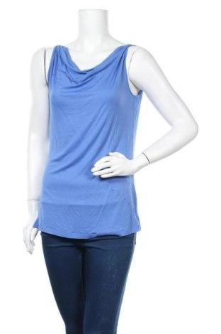 Tricou de damă Okay, Mărime M, Culoare Albastru, 98% viscoză, 2% elastan, Preț 11,61 Lei