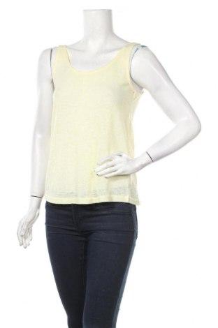 Γυναικείο αμάνικο μπλουζάκι One Love, Μέγεθος M, Χρώμα Κίτρινο, 85% πολυεστέρας, 15% βισκόζη, Τιμή 3,64€
