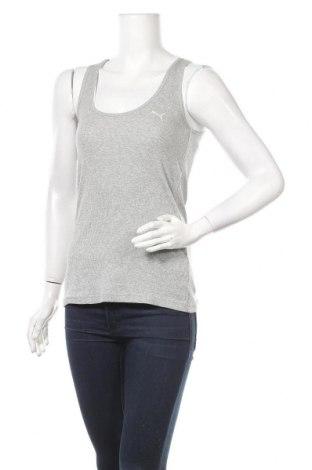 Γυναικείο αμάνικο μπλουζάκι PUMA, Μέγεθος M, Χρώμα Γκρί, Βαμβάκι, Τιμή 14,85€