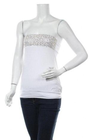 Γυναικείο αμάνικο μπλουζάκι Seductions, Μέγεθος M, Χρώμα Λευκό, Τιμή 6,37€
