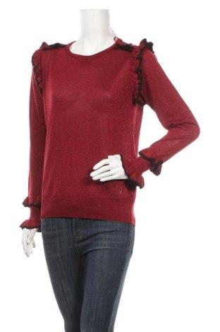 Дамски пуловер Camomilla, Размер M, Цвят Червен, 65% вискоза, 35% метални нишки, Цена 22,12лв.