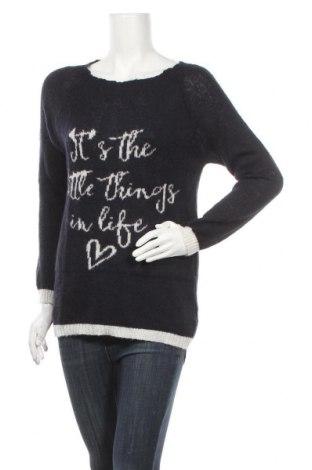 Дамски пуловер Camomilla, Размер L, Цвят Син, 42% акрил, 30% полиамид, 14% вълна, 14% мохер, Цена 26,07лв.