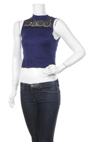 Дамски пуловер Express, Размер S, Цвят Син, 80% вискоза, 17% полиамид, 3% еластан, Цена 3,00лв.