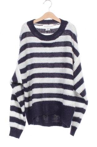 Дамски пуловер H&M L.O.G.G., Размер XS, Цвят Син, 55% акрил, 30% полиамид, 15% мохер, Цена 19,50лв.
