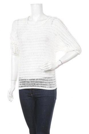 Γυναικείο πουλόβερ Hallhuber, Μέγεθος XS, Χρώμα Λευκό, 60% πολυεστέρας, 40% βαμβάκι, Τιμή 28,70€