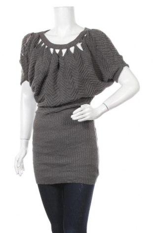 Дамски пуловер Jessica Simpson, Размер S, Цвят Сив, 90% акрил, 6% полиестер, 4% метални нишки, Цена 7,35лв.