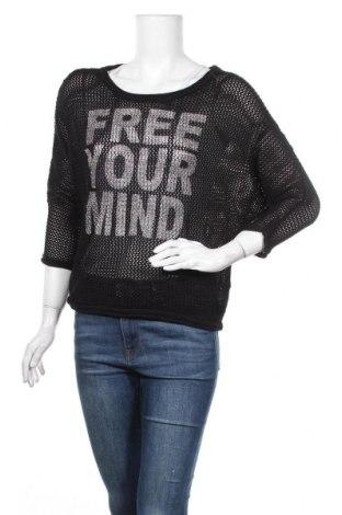 Дамски пуловер Mix Ray, Размер S, Цвят Черен, 50% памук, 50% акрил, Цена 8,82лв.