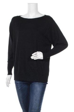 Дамски пуловер Uniqlo, Размер L, Цвят Черен, Вълна, Цена 30,45лв.
