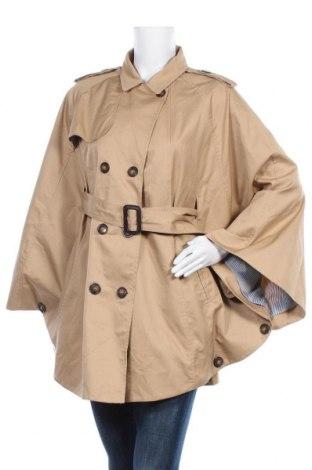 Дамски шлифер, Размер L, Цвят Бежов, 65% полиестер, 35% памук, Цена 44,10лв.