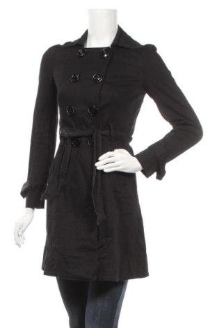 Дамски шлифер C&C, Размер M, Цвят Черен, 97% памук, 3% еластан, Цена 14,64лв.