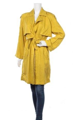 Дамски шлифер Edc By Esprit, Размер S, Цвят Жълт, Лиосел, Цена 46,94лв.