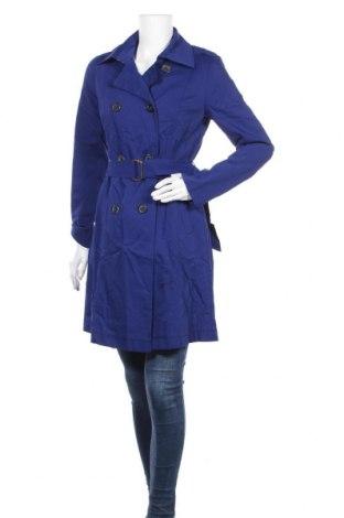 Дамски шлифер Escada, Размер M, Цвят Син, 61% памук, 33% полиамид, 6% еластан, Цена 85,68лв.