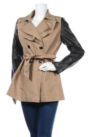 Дамски шлифер Forcast, Размер L, Цвят Бежов, 65% памук, 35% полиестер, еко кожа, Цена 9,42лв.