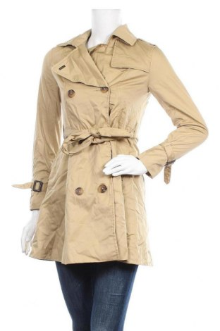 Дамски шлифер H&M, Размер XS, Цвят Бежов, 65% полиестер, 35% памук, Цена 23,31лв.
