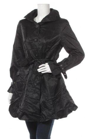Дамски шлифер Jacqueline Riu, Размер L, Цвят Черен, 65% памук, 35% полиамид, Цена 41,90лв.
