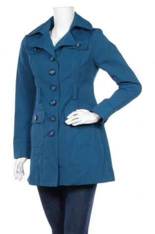 Дамски шлифер New York & Company, Размер S, Цвят Син, 53% памук, 44% полиамид, 3% еластан, Цена 19,95лв.