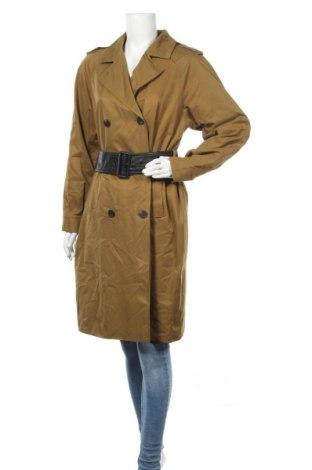 Дамски шлифер Vila, Размер M, Цвят Зелен, 80% полиестер, 20% памук, Цена 51,62лв.
