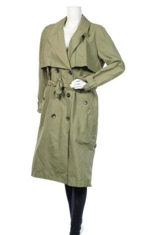 Дамски шлифер Zara Trafaluc, Размер S, Цвят Зелен, 65% памук, 35% полиамид, Цена 37,17лв.