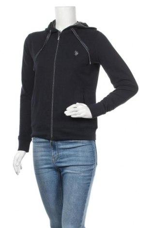 Дамски суичър U.S. Polo Assn., Размер S, Цвят Син, 95% памук, 5% еластан, Цена 59,25лв.