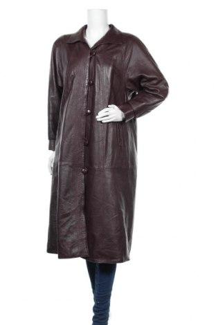 Дамско кожено палто, Размер M, Цвят Червен, Естествена кожа, Цена 77,18лв.